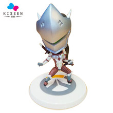 Kissen OW GENJI BIG head Action Figure PVC 11CM game figure Model kids Toys Gifts Collection