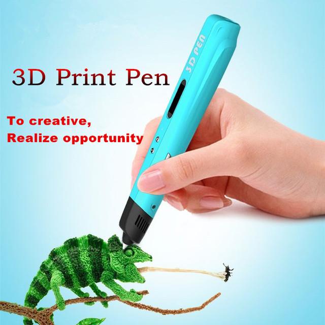 2017 Más Nuevo 3D de Alta Calidad de segunda Generación Pantalla LED DIY 3D Bolígrafos Pluma Con 3 Colores PLA Filamento impresora 3D Para Niños de Dibujo