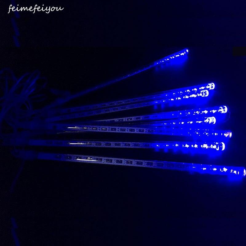 Feimefeiyou светодиод Метеоритный Дождь Огни Водонепроницаемый сада 30 см 8 Трубы 144 светодиоды падает снег дождь для праздника рождество ...