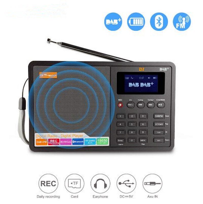 Radio FM numérique linternet radio portable fm DAB + Radio Mini TF bluetooth haut-parleur RADD1