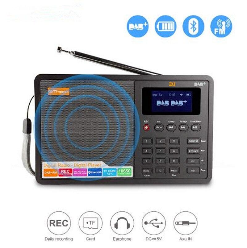 Numérique FM Radio Numérique linternet radio portable fm DAB DAB + Radio Mini TF bluetooth Haut-Parleur RADD1