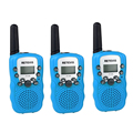 3pcs Walkie Talkie 0.5W UHF Europe Frequency 8CH 446MHz LCD Display Portable Retevis RT388 Blue Toy Radio J7027