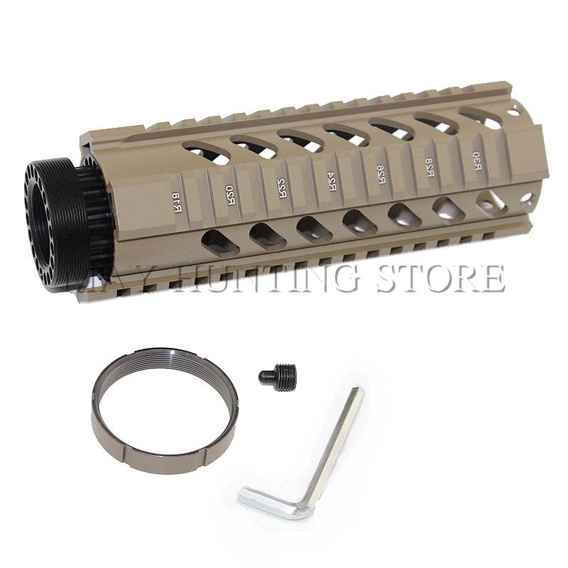 Tactical Airsoft .223/5.56 <font><b>AR15</b></font> 7 Inch Free Float Handguard Rail <font><b>Tube</b></font> AR-15 M16 M4 Handguard Picatinny Hunting Gear image