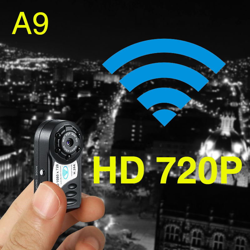 Micro Infrared Night Vision Wireless Camera Ultra small Invisible HD Mini WIFI Cam Remote alarm security ...