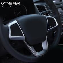 Vtear для hyundai creta ix25 рулевое колесо Кнопки украшения крышка отделка внутренние молдинги ABS аксессуары из хрома 2017-2019
