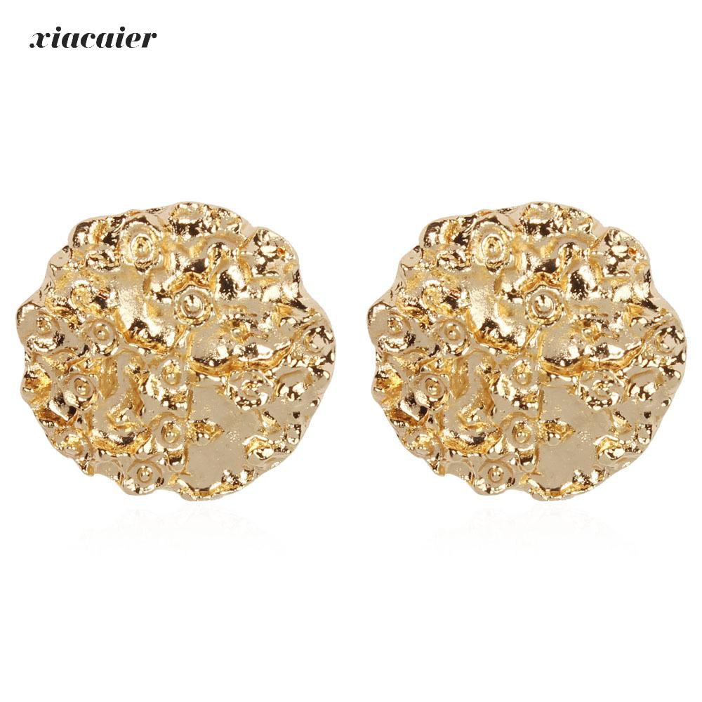 Xiacaier Metal Gold Silver Stud Earring For Women Hot Sale Vintage Trendy Punk Statement Luxury Party Gift Earrings Wholesale