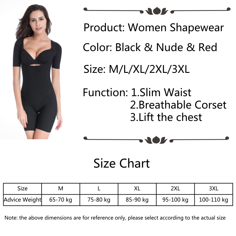 f2424c427099a 2019 Plus Size Shape Wear Body Shapewear Short Sleeve Underwear ...