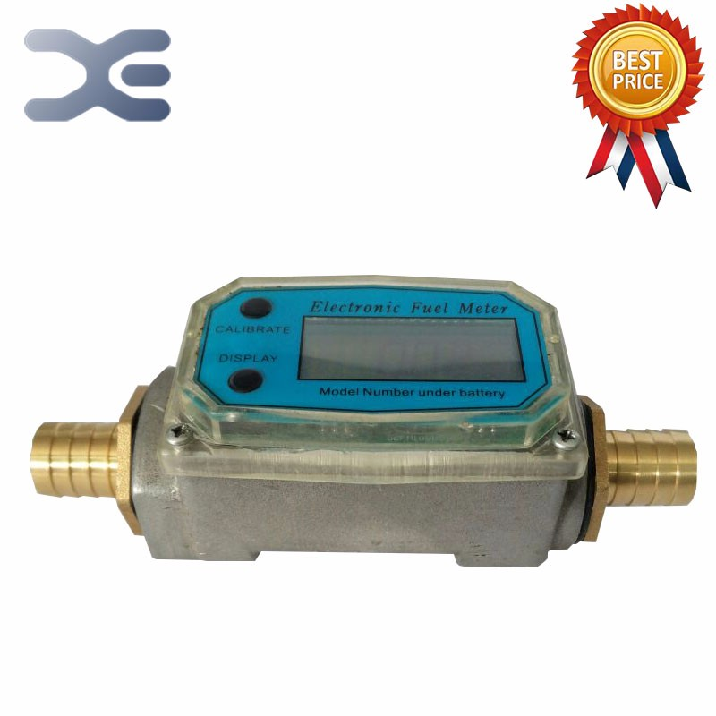 цена на 3/4 10-120L/Min Oil Electronic Turbine Flow Meter Kerosene Methanol Diesel Fuel Flow Digital Meter Oval Gear Gauge
