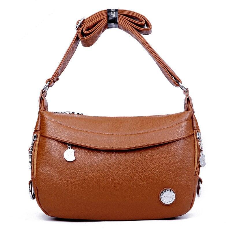 ФОТО AIBKHK brand split leather messenger bags for women Delicate and attractive crossbody mom shoulder bag mini ladies handbags