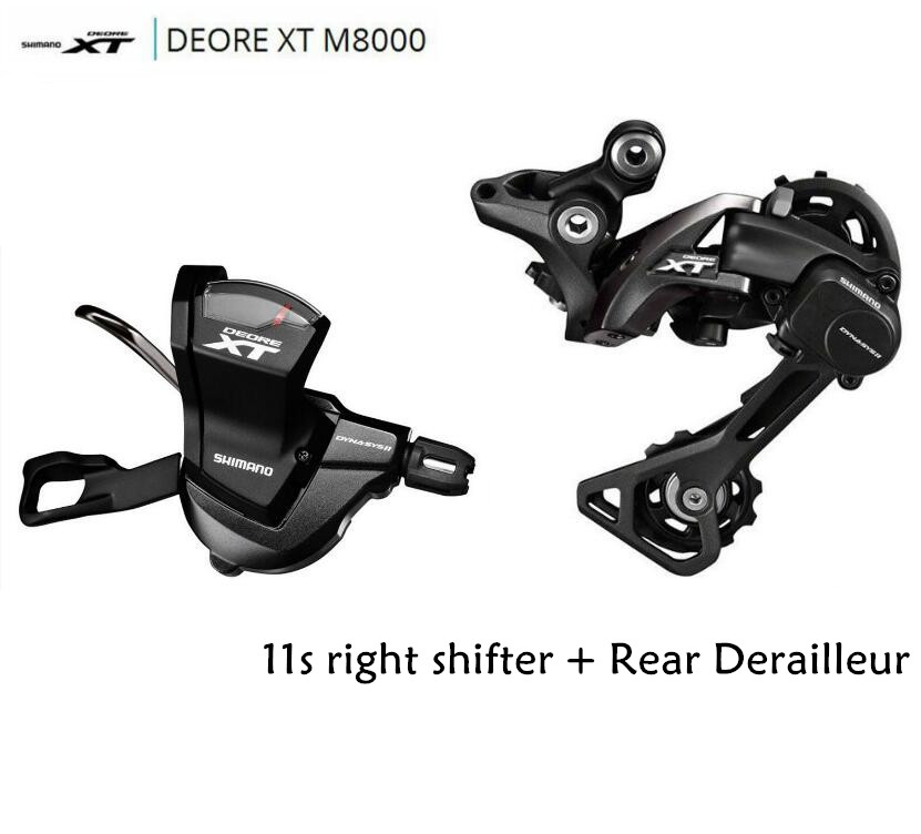 Shimano DRORE XT M8000 11 Speed Trigger Shifter + 11 Speed Rear Derailleurs MTB SL-M8000 RD-M8000 GS/SGS shimano xt m8000 left