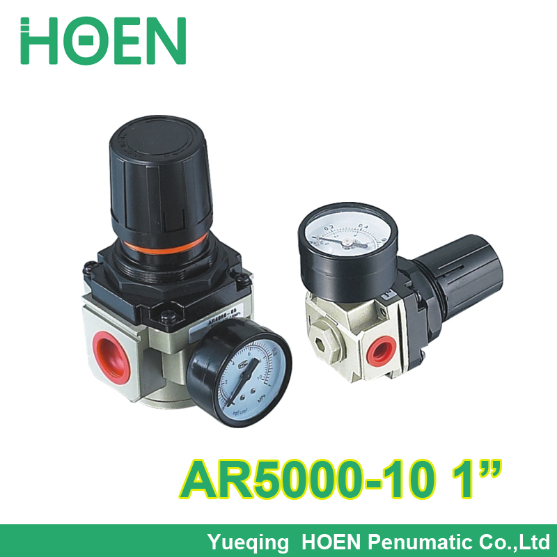 High quality Air compressor pressure regulator smc type control pneumatic AR5000-10 with gauge 1 inch BSP air treatment units free shipping g1 ports air filter regulator model aw5000 10 with pressure gauge 5pcs in lot high flow rate in stock