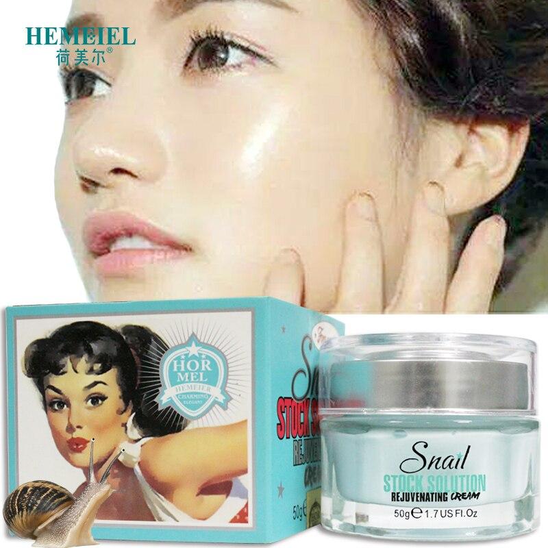 HEMEIEL Korean Anti Aging Face Cream Snail Essence Facial Moisturizer Whitening Rejuvenating Tender Skin Care Day Cream Cosmetic