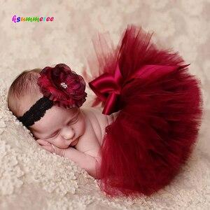 Ksummeree Рождественская юбка-пачка принцессы, винтажный головной убор, реквизит для фотосъемки новорожденных, подарок для детского душа TS078