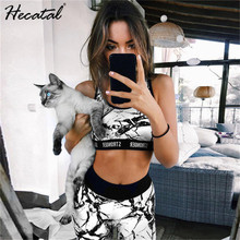 Printed Breathable Yoga Sets Sexy Women Sportswear Halter Bra & Leggings Tight Fitness Sports Suit Set Tracksuit for