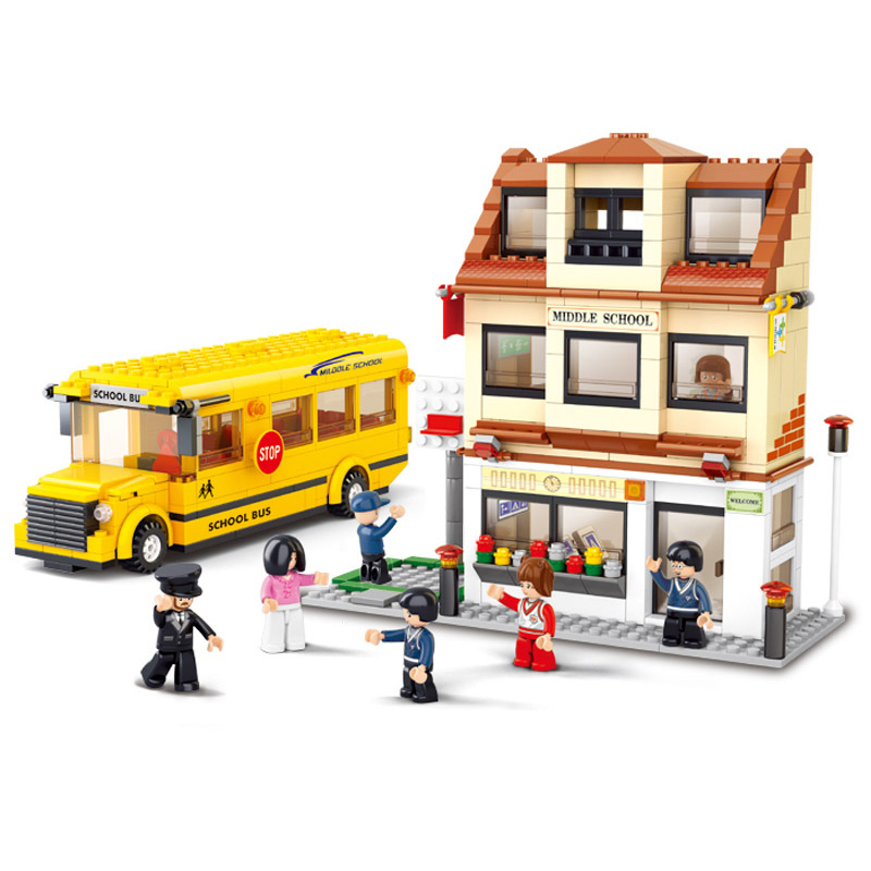 Sluban Model Building Compatible lego Lego B0333 496pcs Model Building Kits Classic Toys Hobbies School BusSluban Model Building Compatible lego Lego B0333 496pcs Model Building Kits Classic Toys Hobbies School Bus