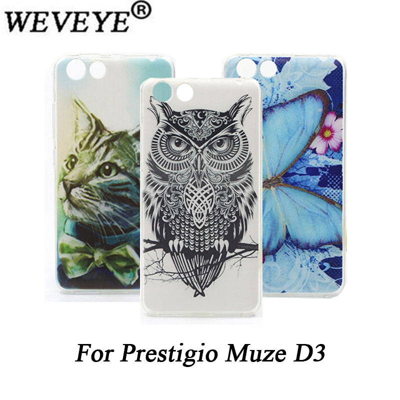 for Prestigio Muze D3 painted case High Quality Cat Lion Rose Flower TPU Painted case For Prestigio Muze D3 PSP3530 DUO 3530Duo