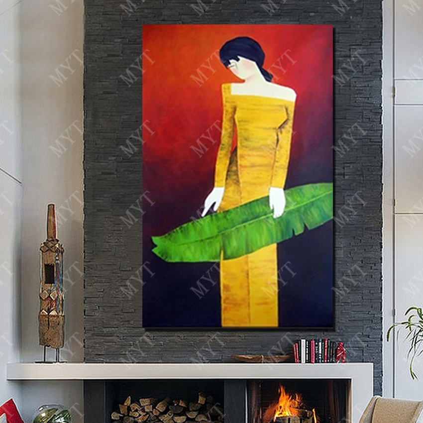 Cartoon figur wandkunst malerei handgemalte 100 sexy dressing frauen hot bild leinwand stoff malerei