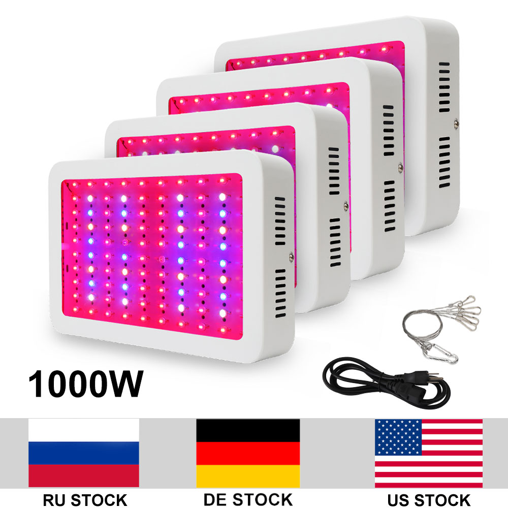 4pcs/lot 1000W LED Lamp Double-Chip LED Full Spectrum AC85 265V Grow Light For Indoor Plants Fast Growth Flowering 200w full spectrum led grow lights led lighting for hydroponic indoor medicinal plants growth and flowering grow tent