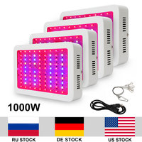 4pcs/lot 1000W LED Lamp Double Chip LED Full Spectrum AC85 265V Grow Light For Indoor Plants Fast Growth Flowering