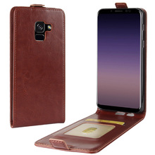 For Samsung Galaxy A8(2018) Case Luxury PU Leather Cover Flip Phone Case For Samsung A8+Plus(2018) SM-A730F SM-A530F Mobile Case защитная плёнка для samsung galaxy a8 2018 sm a530f на весь экран tpu прозрачная luxcase