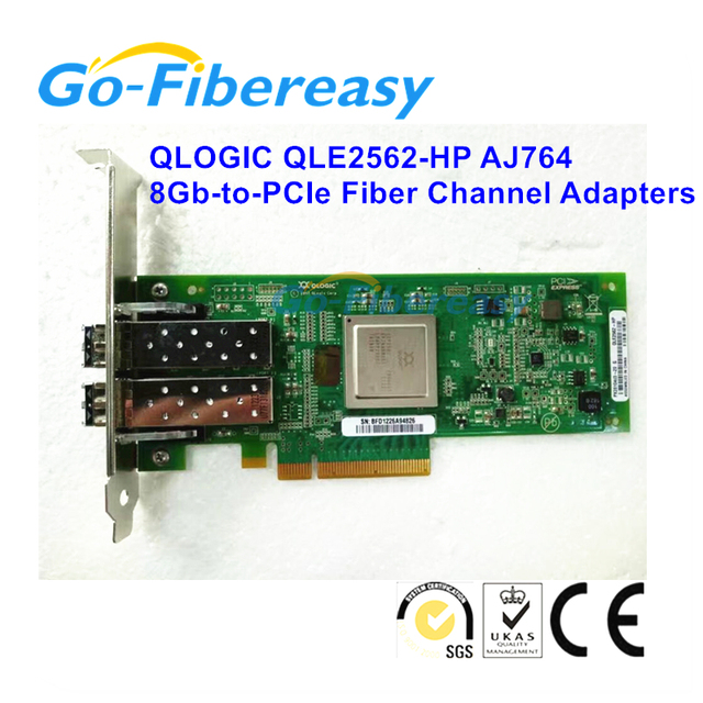 US $420 0 |New QLogic QLE2562 HP AJ764 2 Port 8Gbps Dual SFP+ FC SR Optic  PCIe Controller Fibre Channel Adapters HBA Card -in Fiber Optic Equipments