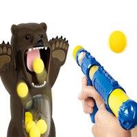 Air Shooting Soft Bullet Gun Foam Bullet Ball launching Pump Toy Hungry Bear