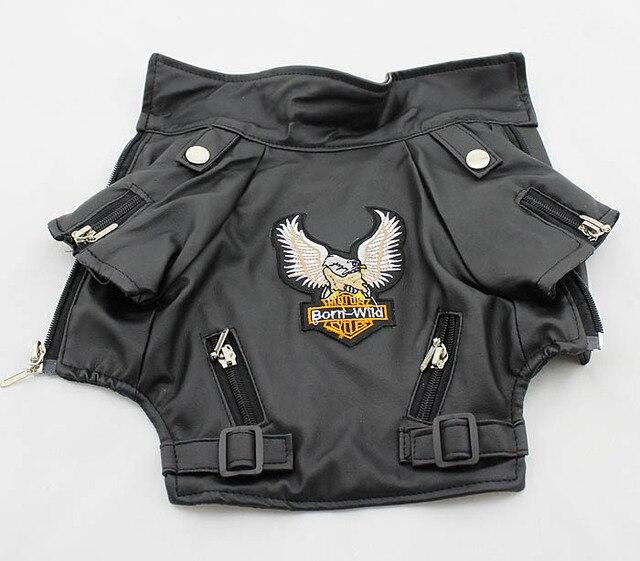 Small/Medium dog Pet Luxury Leather Jacket Coats for dog Autumn/Winter Eagle Chihuahua dog cat puppy  vest clothes costume