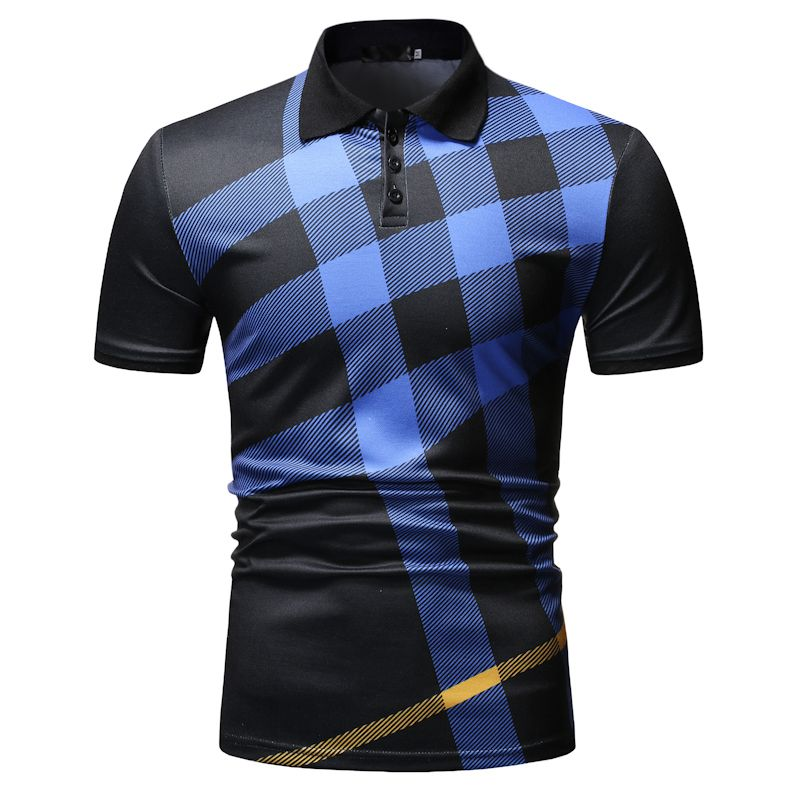 Polo Shirt Men Plaid Pattern New Arrival Men's Casual Fashion POLO Shirt For Summer 2019