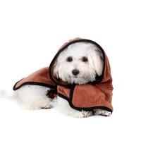 Beste XS-XL Pet Bademantel Warme Kleidung Super Saugfähigen Trocknen Handtuch Stickerei Pfote Katze Hund Haube Bad Hundesalon Produkt