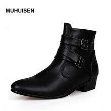 fashion men shoes soft leather autumn boots men waterproof warm shoes men comfortable ankle boots man
