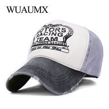 Wuaumx Brand Summer Baseball Caps Sports Snapback Simple wash Hats For Men Women Hip Hop Cap Unisex Bone Gorras Casquette Chapeu fashion brand baseball cap unisex outdoor hats simple sports men casquette snapback gorras golf for women chapeu solid m041