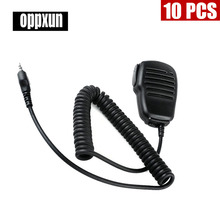10PCS Walkie talkie microphone in hand PTT For the Midland radio G6/G7 gxt550 gxt650 lxt80