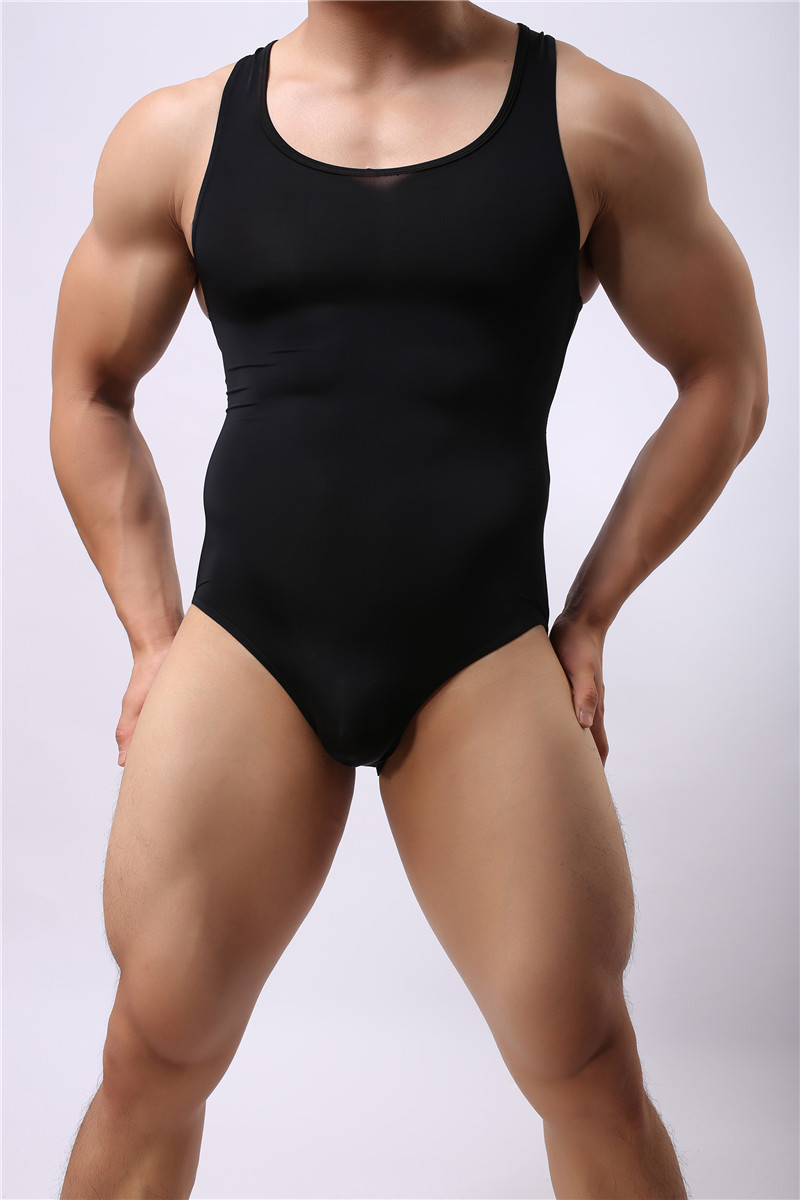 Sexy Men Onesie Vest Pajamas 2018 Brand Summer Sexy Cotton Male Underwear Body Shaping Homewear Men Pajamas Gay Men Onesies