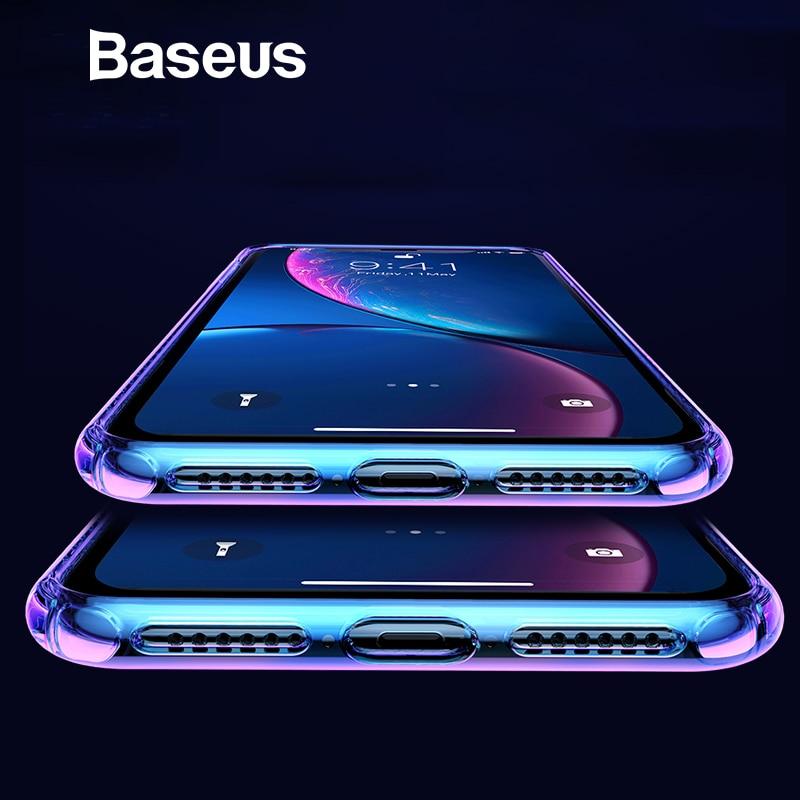 IPhone Xs Max XR üçün əsas Base Gradient Yumşaq silikon - Cib telefonu aksesuarları və hissələri - Fotoqrafiya 1