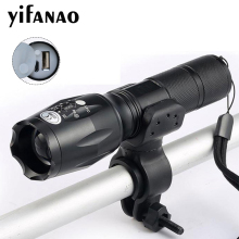 цены Newest USB 8000 Lumens Flashlight LED CREE XM-T6 L2 Front Torch Bicycle Light lamp with USB Charger+Bike Clip