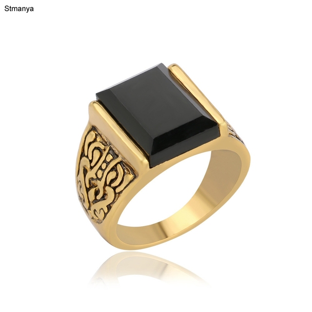 Classic Men Ring Hot Sale Vintage Retro Antique Silver Plated Carved Yonago Desi