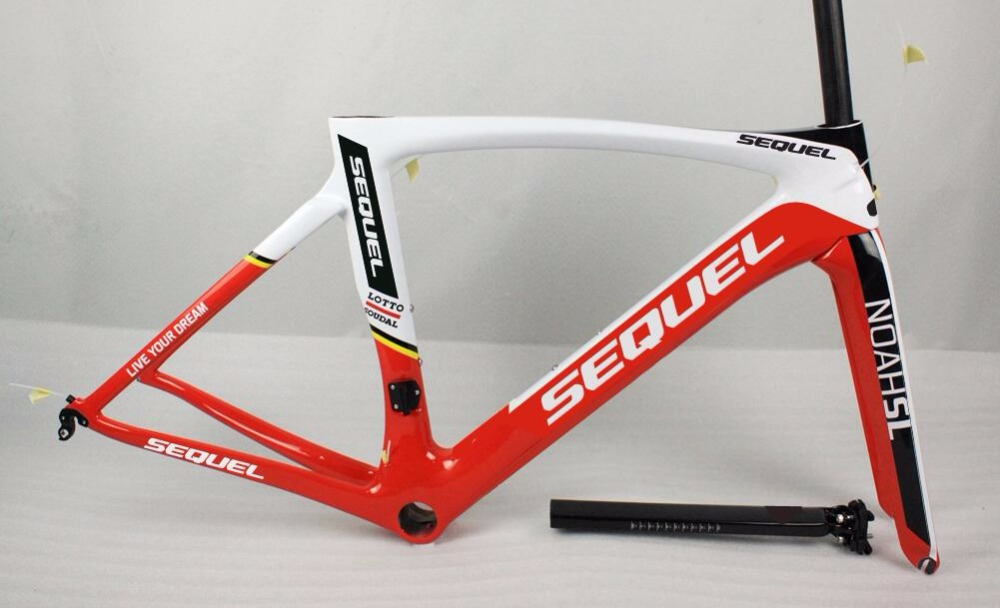 SEQUEL brand road bike carbon frame good quality and price clearance sale now UD/1K Toray T1100 quadro de bicicleta DIY painting silver mtb bike frame mountain bike frame road bicicleta quadro bike mtb quadro de bicicleta de estrada aluminum bmx cadre velo
