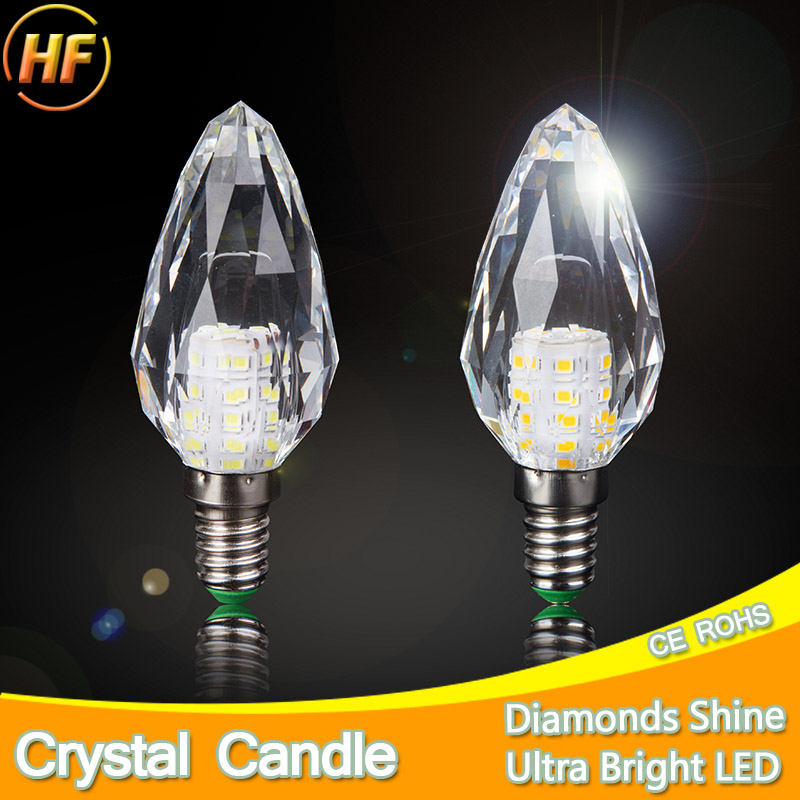 2pcs/lot 168 Surface Crystal LED Lamp Candle Bulb E14 7W 220V LED Light Bulb Cool Warm White Lampada Bombillas Ampoule Lampe led new mini e14 led bulb light 9w 7w led bulb 3w 5w 220v led lamp e14 cool warm white lampara led candle spotlight lampada led
