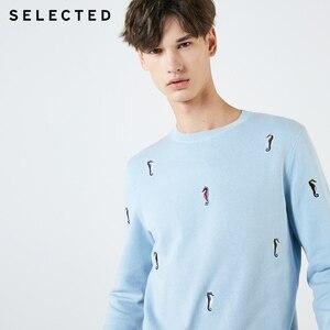 Image 3 - Мужской трикотажный пуловер из 100% хлопка с вышивкой животных, одежда для свитера C