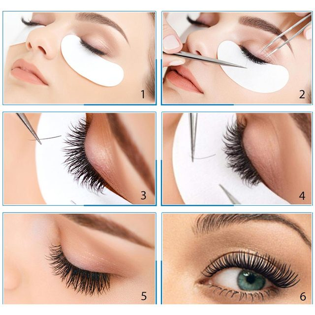 100Pairs Eyelash Extension Eye Pads Pillows Disposable Patches for Eyelashes Under Eyes Tips Lint Free Lash Sticker Wraps Makeup 1