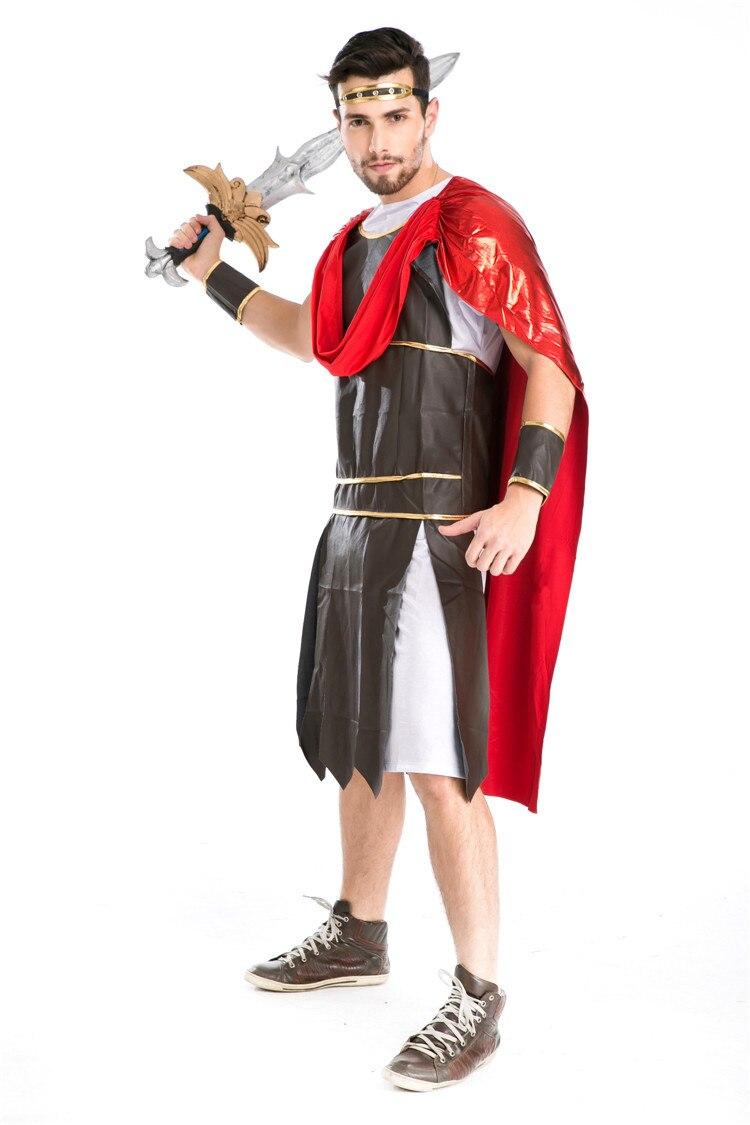 4pcs Adult Man Spartan Warriors Cosplay Uniforms Roman Warrior