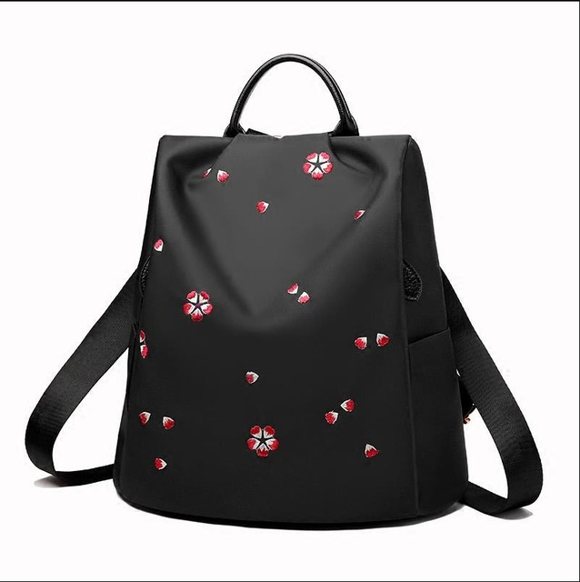 Cherry blossom embroidery backpack 5