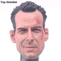 1/6 Scale Accessories Action Figure Male Head Scuplt Bruce Willis Head Sculpt For 12 Inch John Mcclane Die Hard Kit Bashing Body