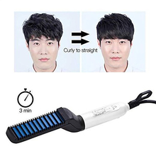 1pcs Beard Comb Men s Hair Straightener Multifunctional Curling Electric Brush Beard Straighten Hair Curler Quick