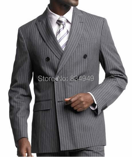 Popular Double Breasted Pinstripe Suit-Buy Cheap Double Breasted ...