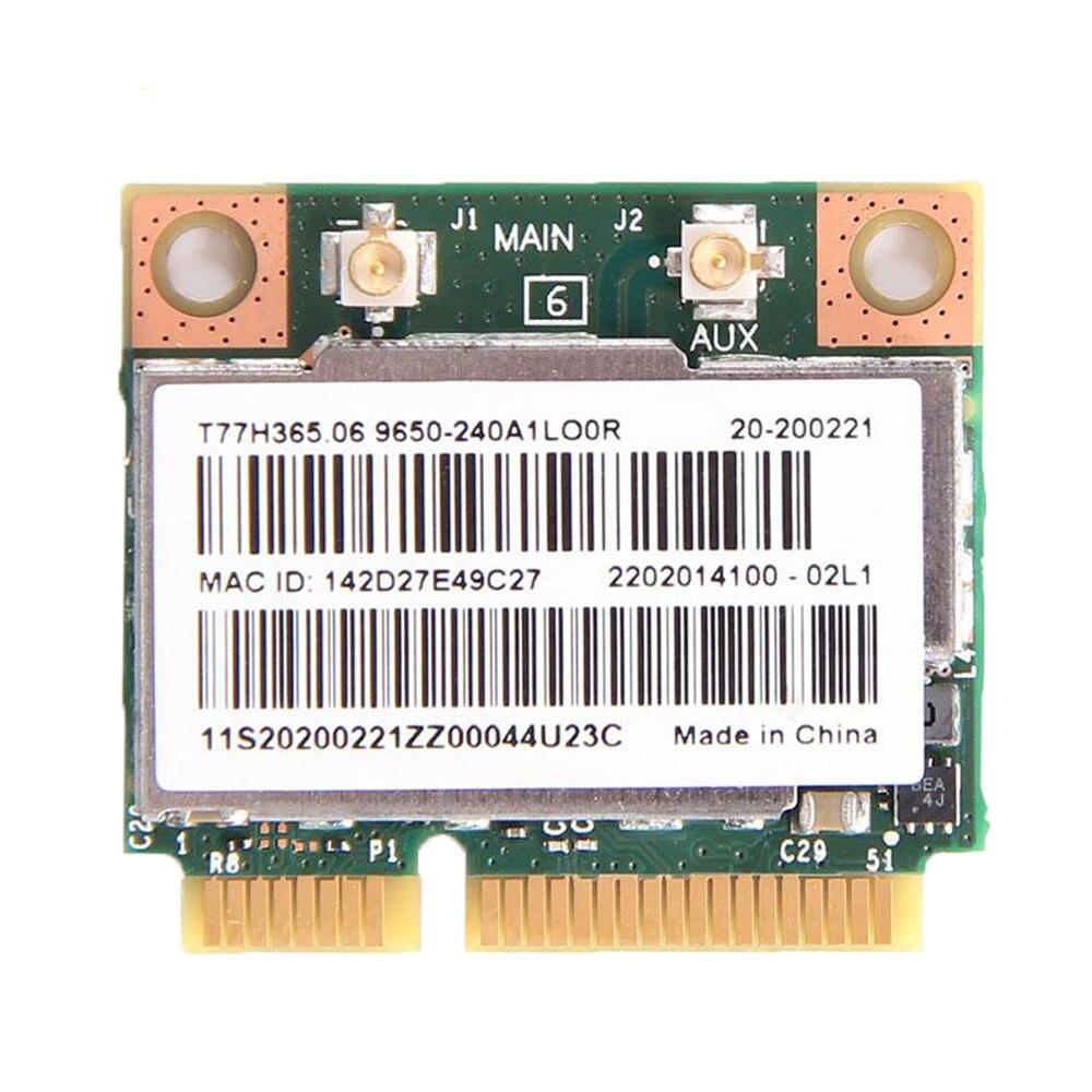 Dual Band Broadcom BCM943228HMB Mini PCI-E PCI Express Wifi Wlan Card Adapter 300Mbps + Bluetooth 4.0 802.11a/b/g/n for Laptop
