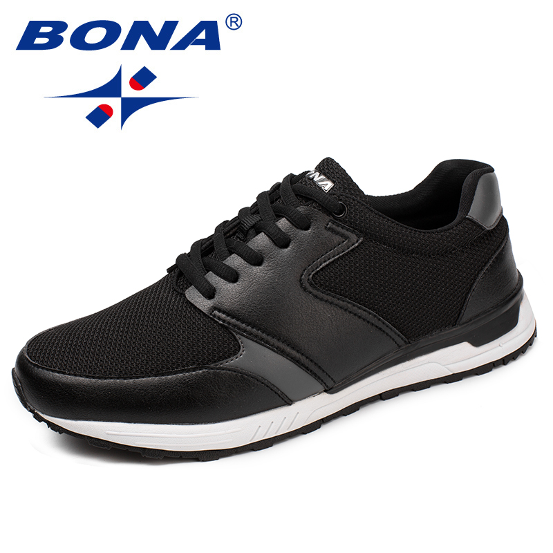 BONA New Arrival Classics Style Men Running Shoes Lace Up Athletic Shoes Outdoor Jogging Sneakers Comfortable Fast Free Shipping