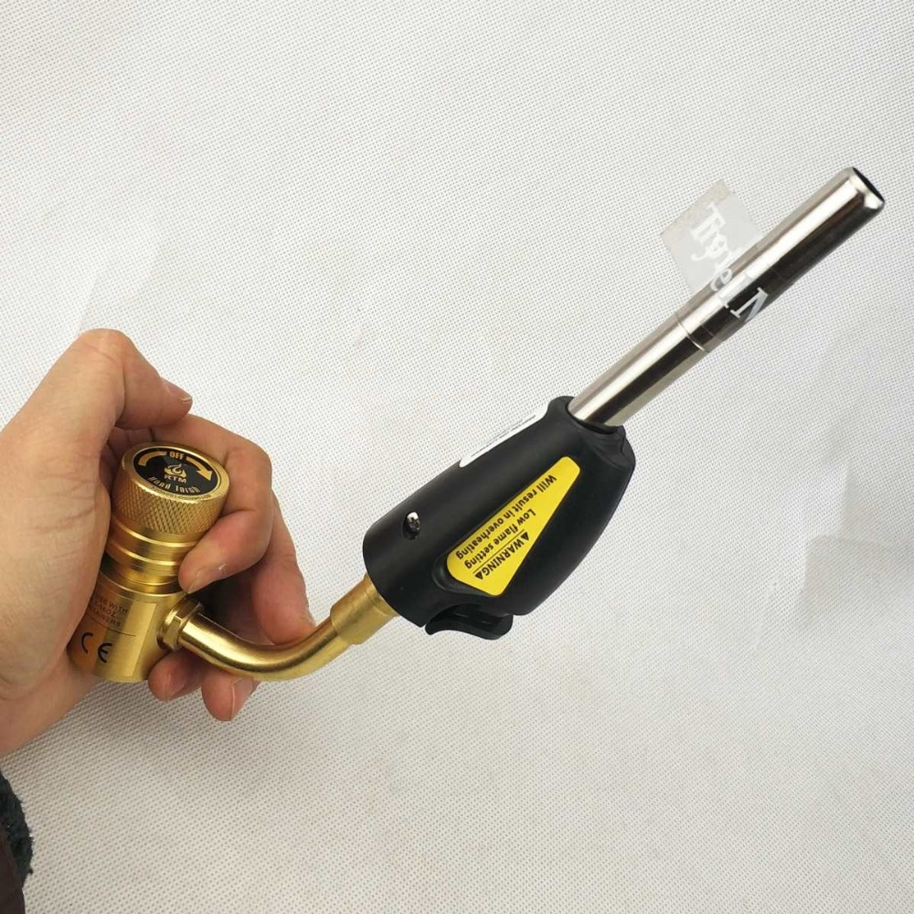Mapp Gas Brazing Torch Self Ignition Trigger   Catridge Propane Welding Plumbing CGA600 Burner Heating