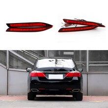 Car-styling For Honda Accord 2013 2014 2015 Red Lens LED Rear Bumper Reflector Brake Light Lamp Fog light