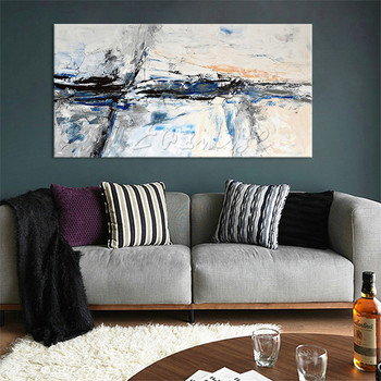 Nordic canvas painting wall art pictures for living room home decor modern abstract hand painted quadros art cuadros decoracionA